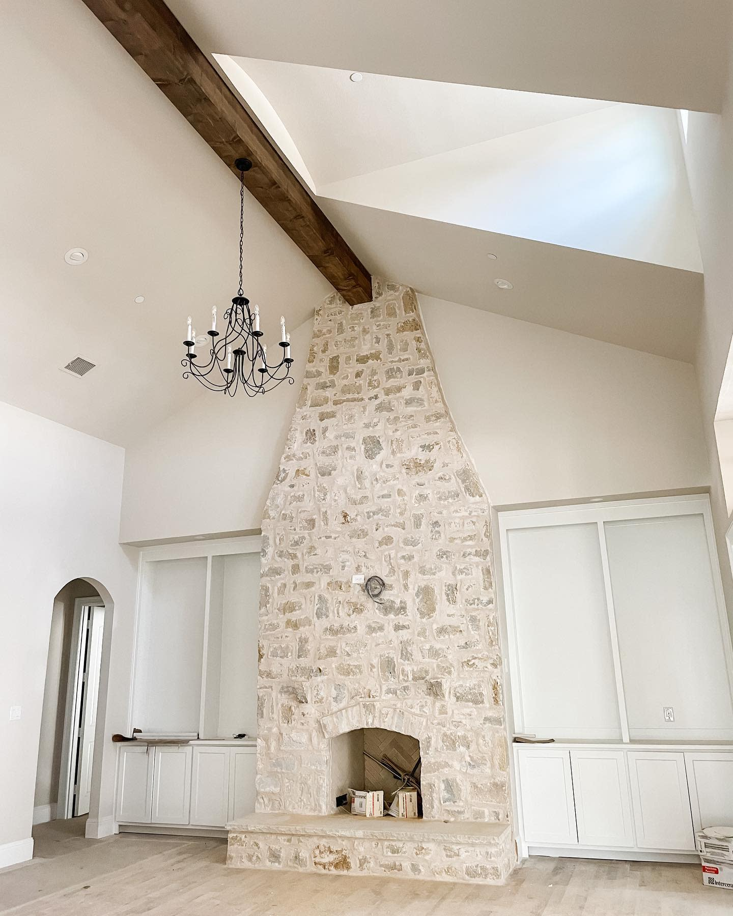 Stone Fireplace Tile Ideas -a_lyttle_french_haven
