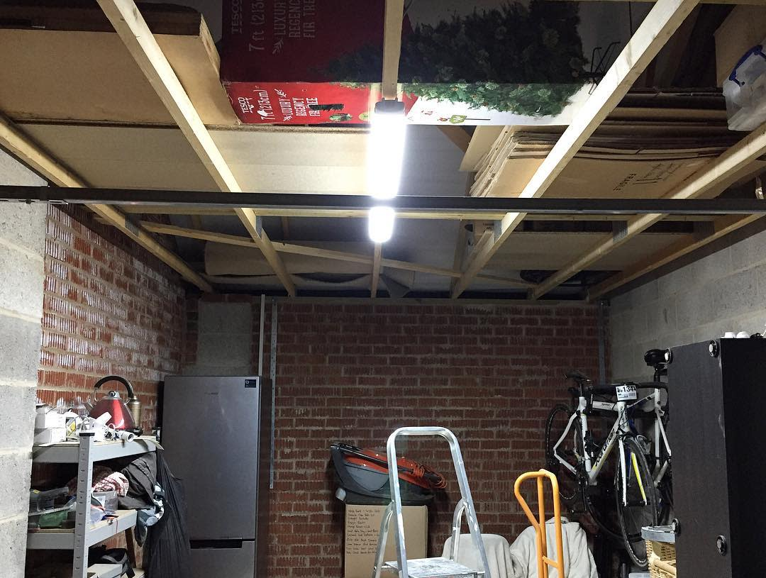 Unfinished Garage Ceiling Ideas -coopers_new_build