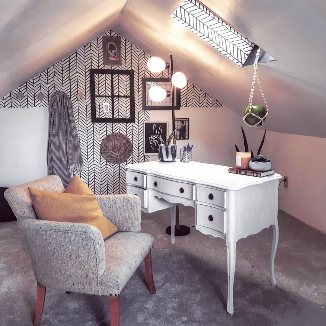 Attic Home Office Ideas -thehomehatch