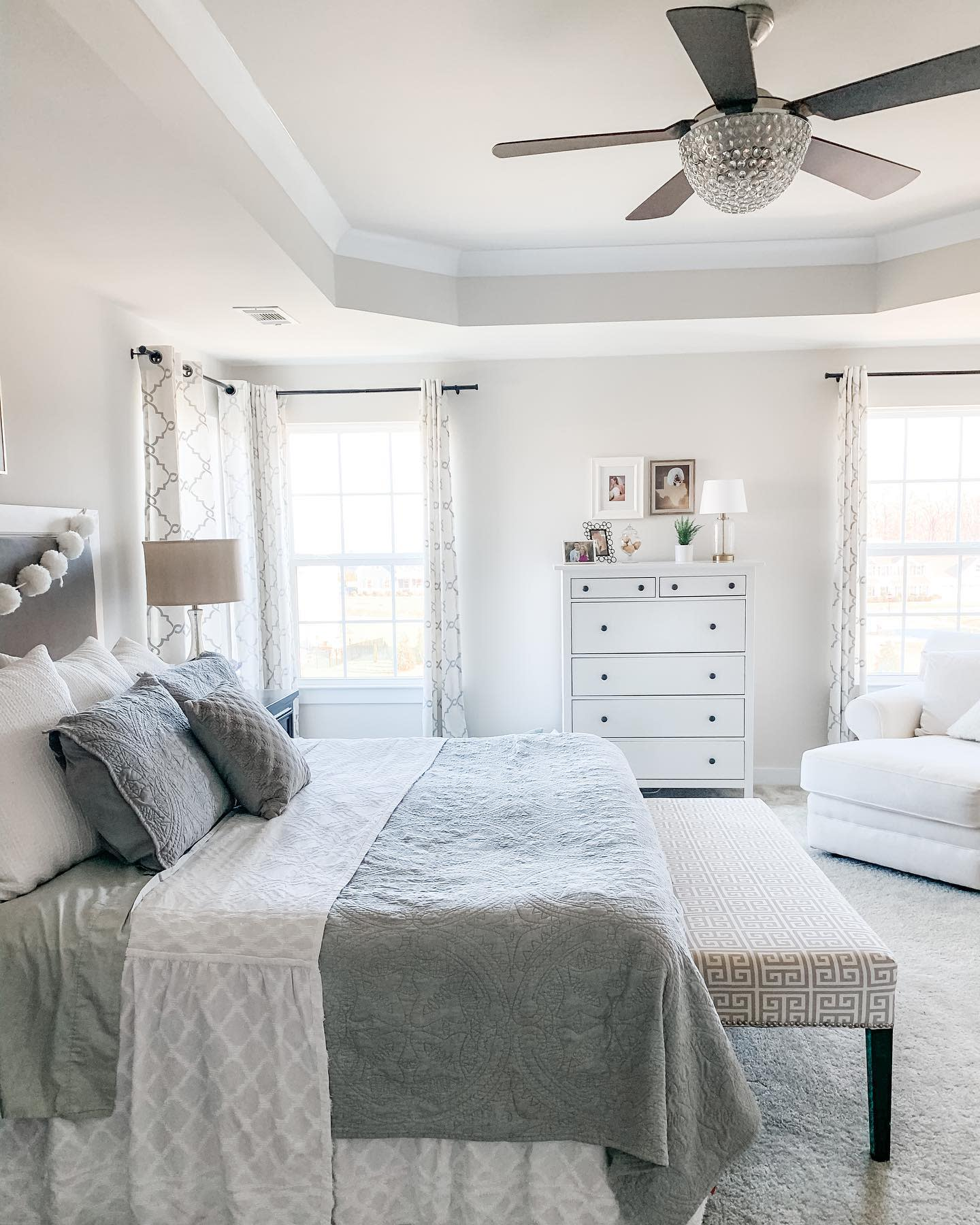 Neutral Master Bedroom Ideas -lindsey.athome