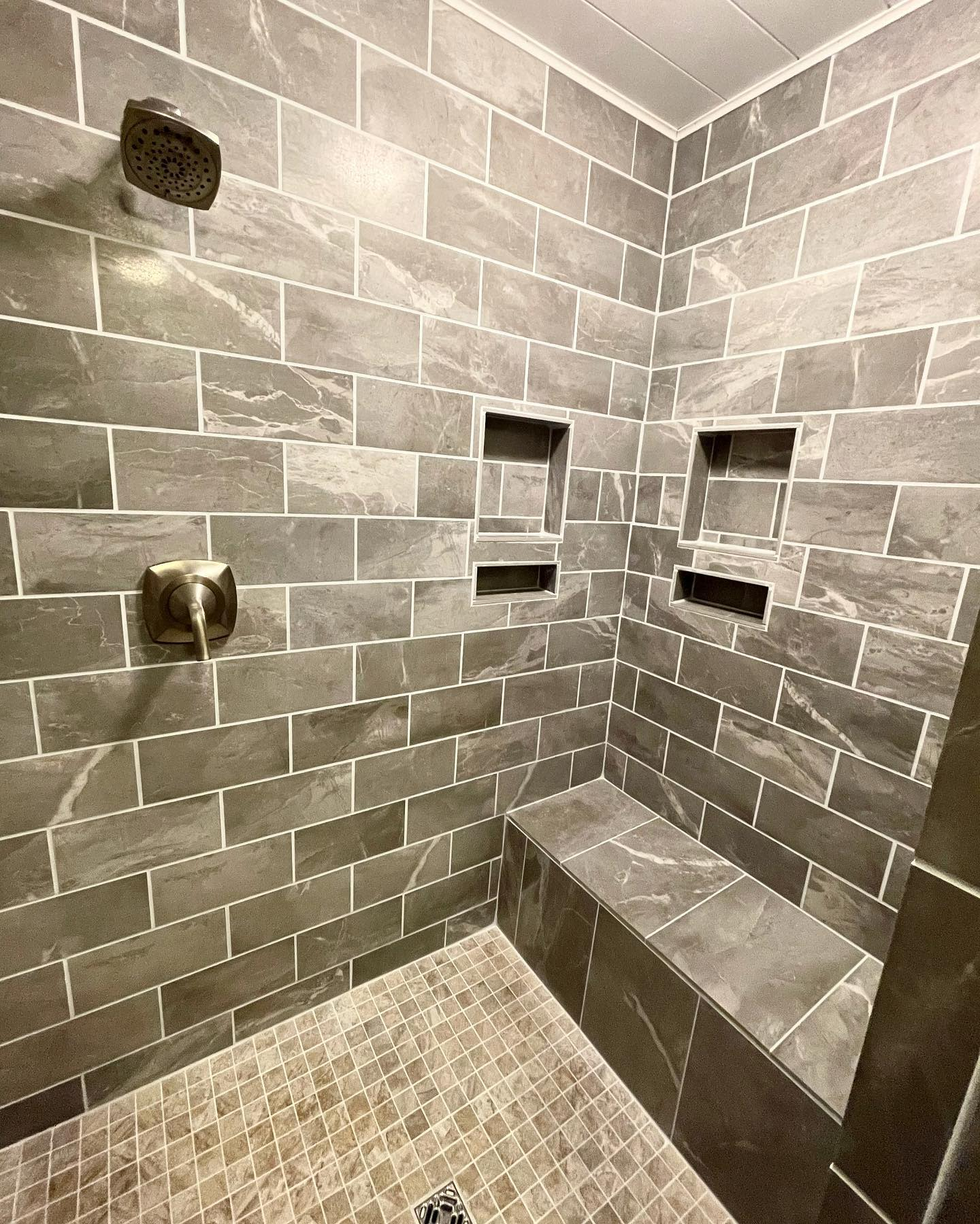 Bench Shower Tile Ideas -timbercohomedesign