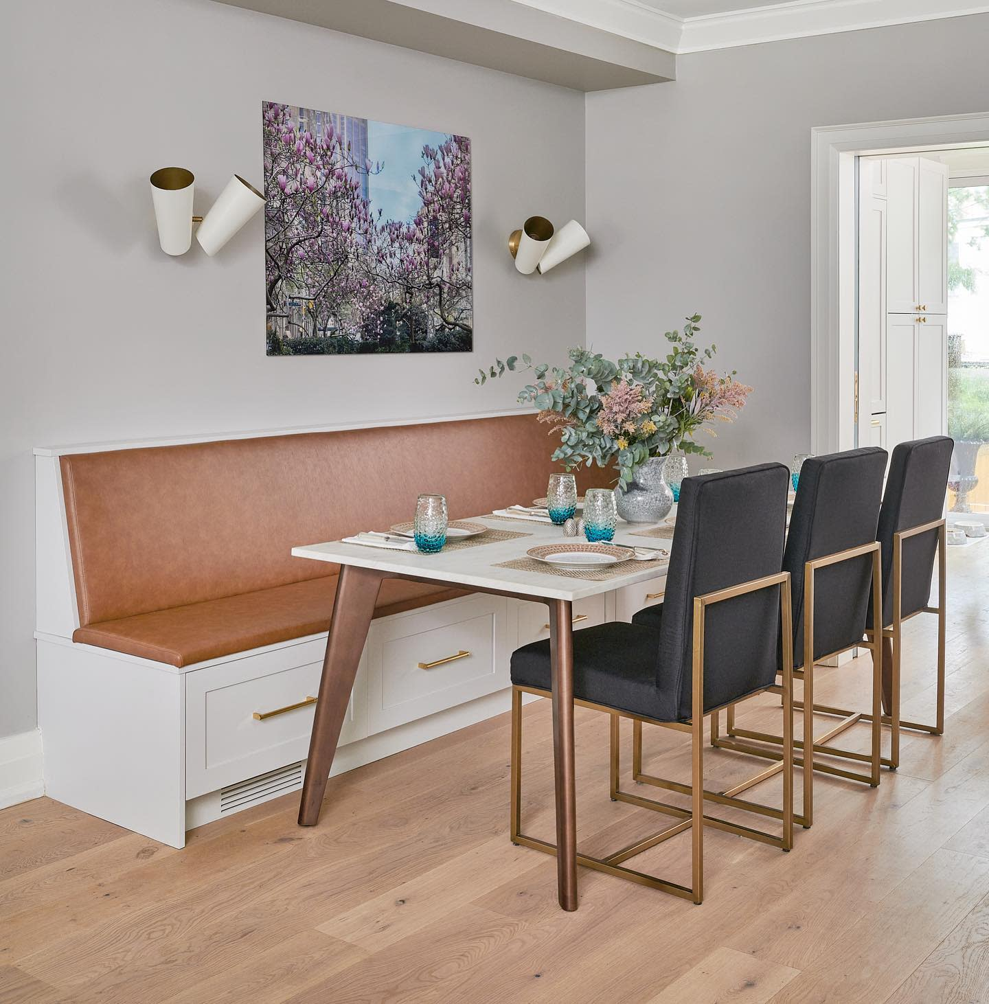 Banquette Small Dining Room Ideas -urban_blueprint