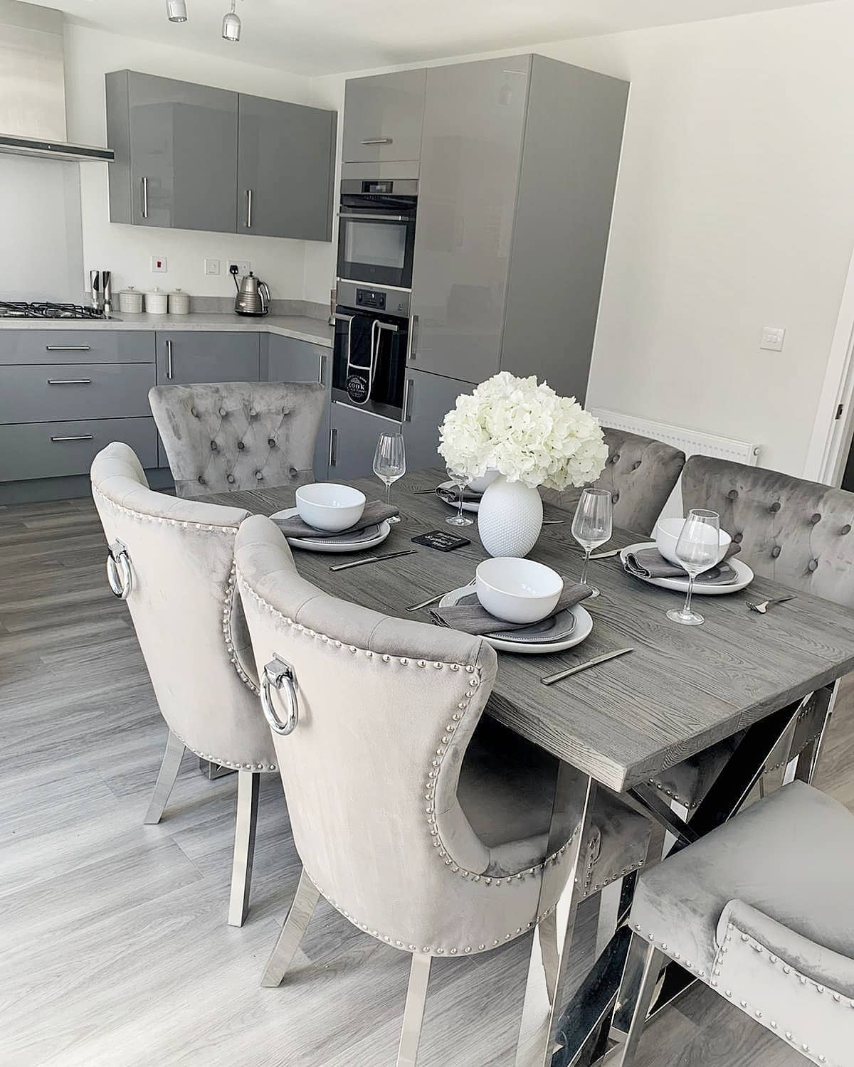 Grey Small Dining Room Ideas -our1sthomejourney