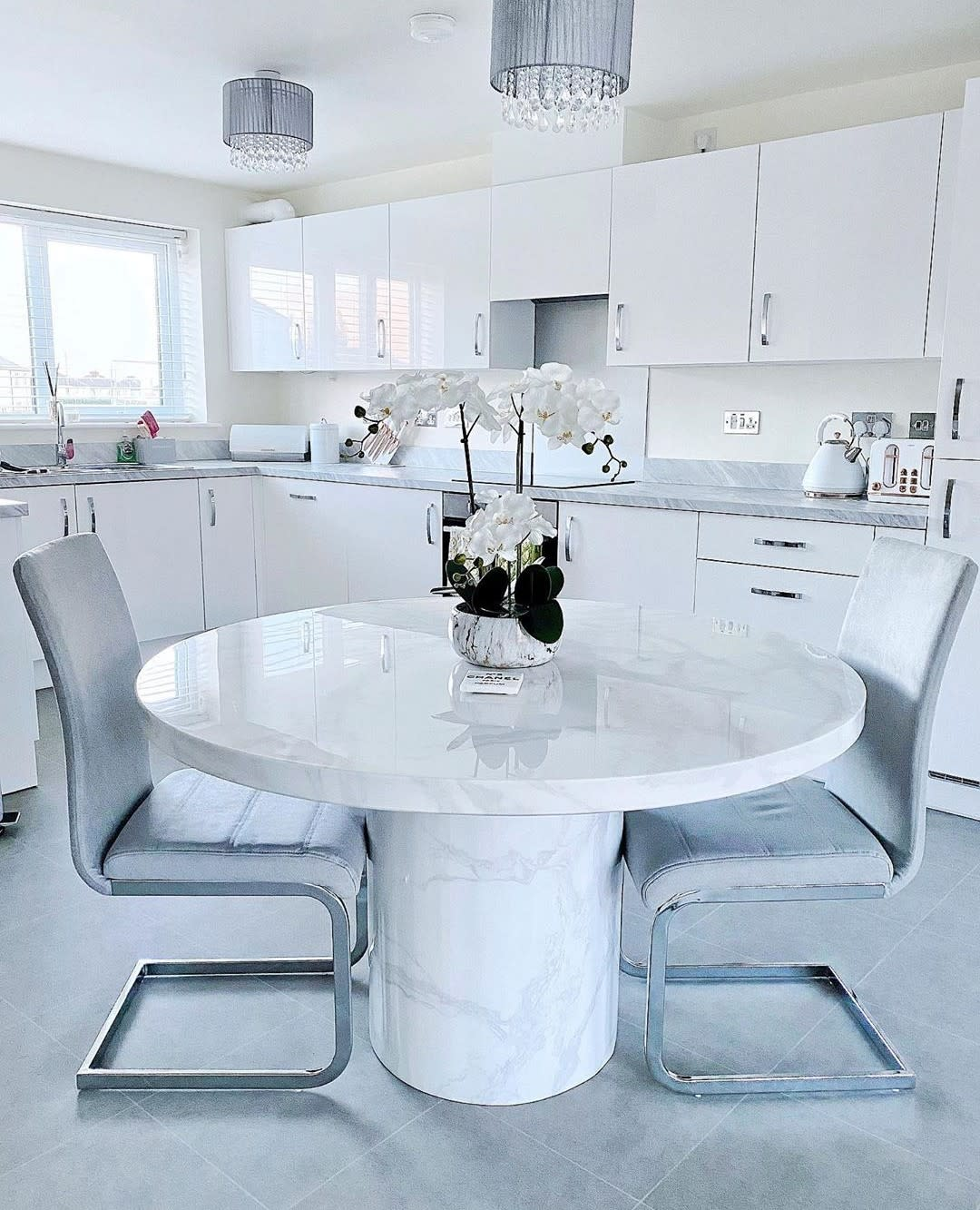 White Small Dining Room Ideas -augustina.homeware
