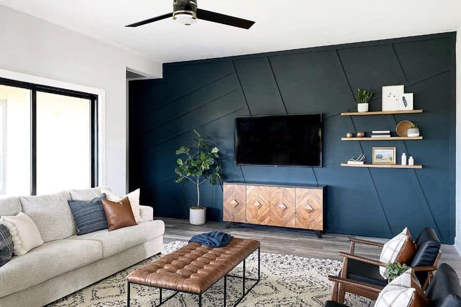 The Top 52 Accent Wall Ideas for the Living Room