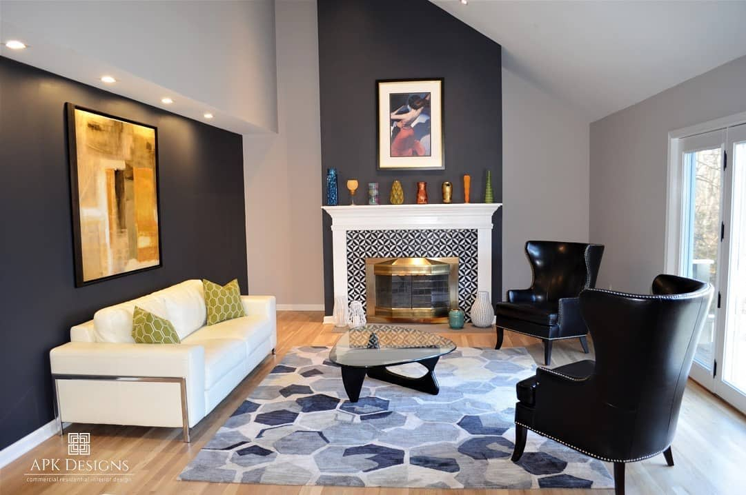 Dark Accent Wall Ideas for Living Room -apkdesignsllc