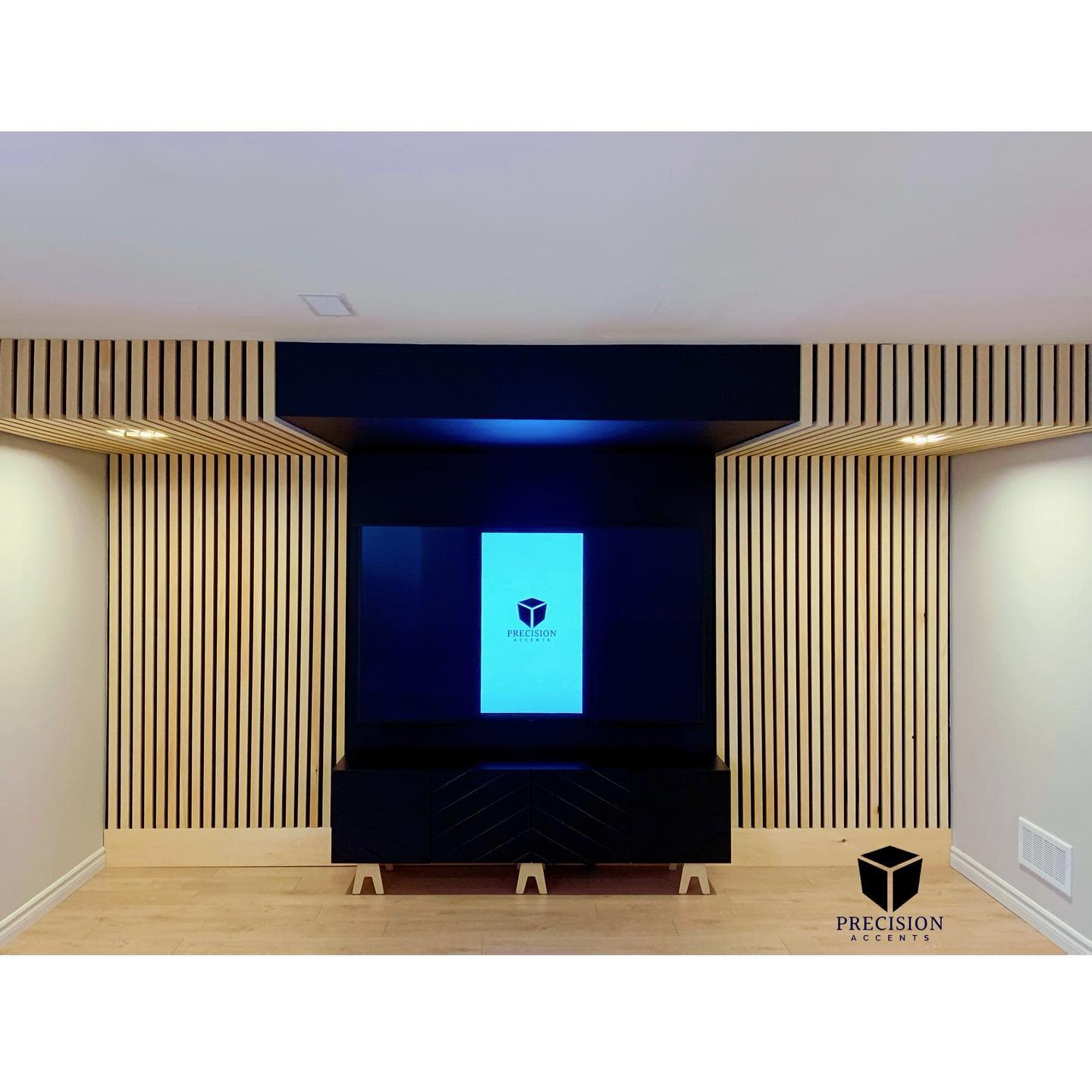 Modern Accent Wall Ideas for Living Room -precision_accents