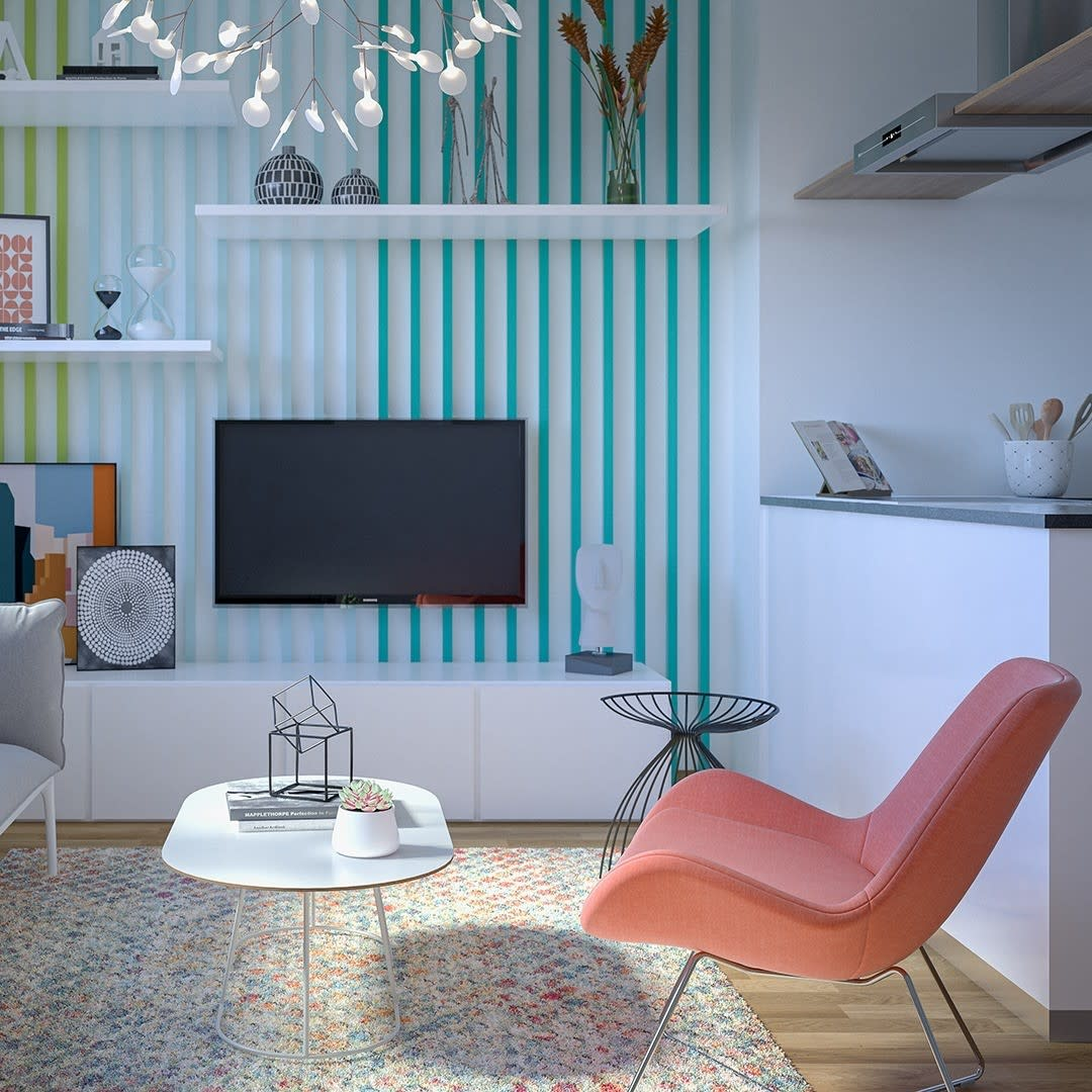 Modern Accent Wall Ideas for Living Room -projectimmo
