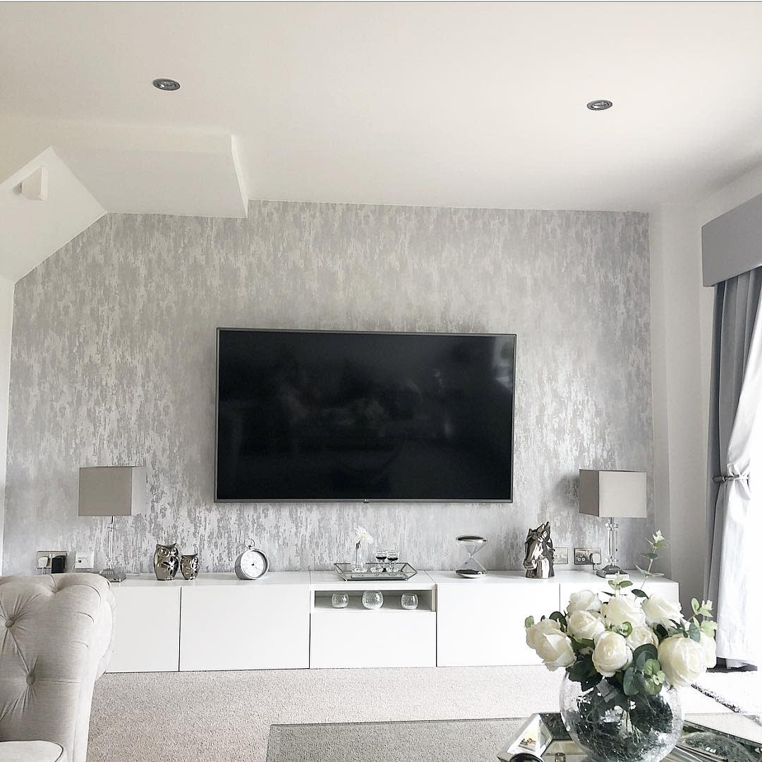 Wallpaper Accent Wall Ideas for Living Room -bridie_newhome