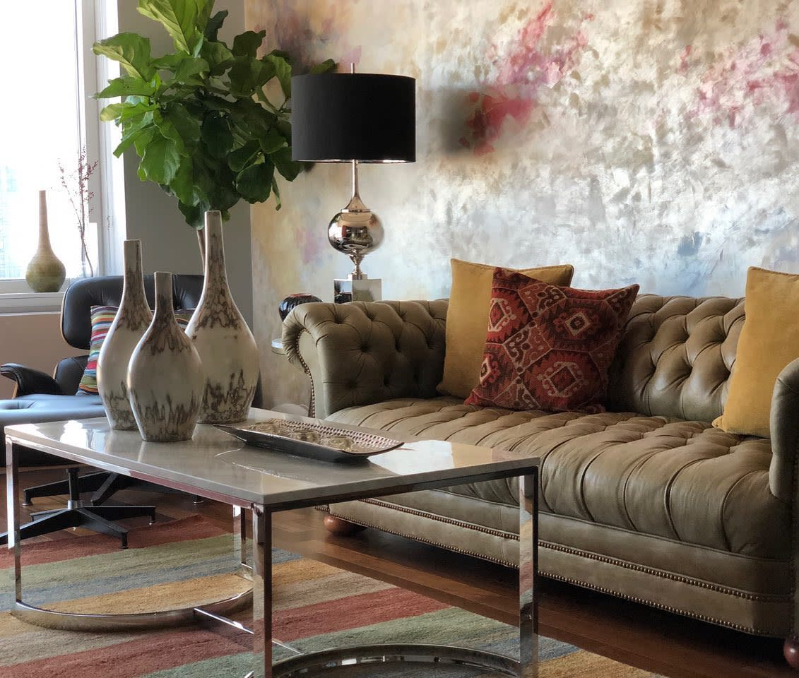 Wallpaper Accent Wall Ideas for Living Room -charliesdesignsllc