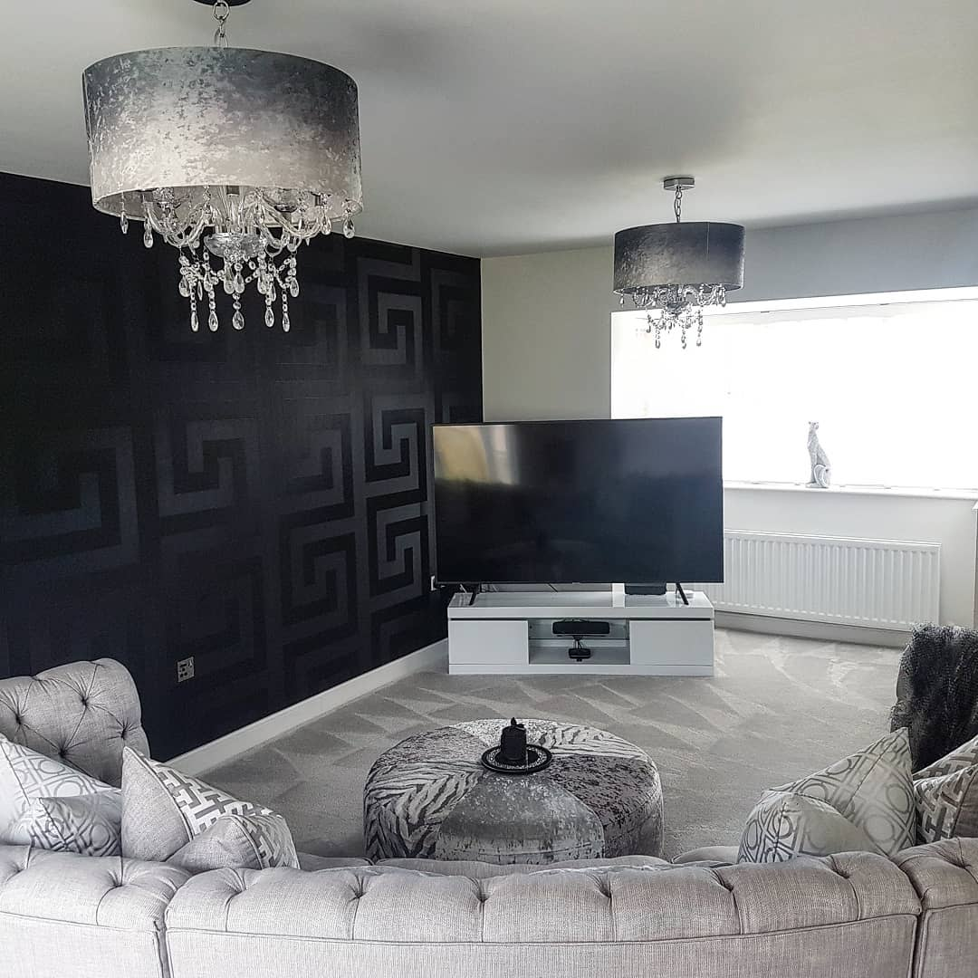 Wallpaper Accent Wall Ideas for Living Room -the.home.of.grey