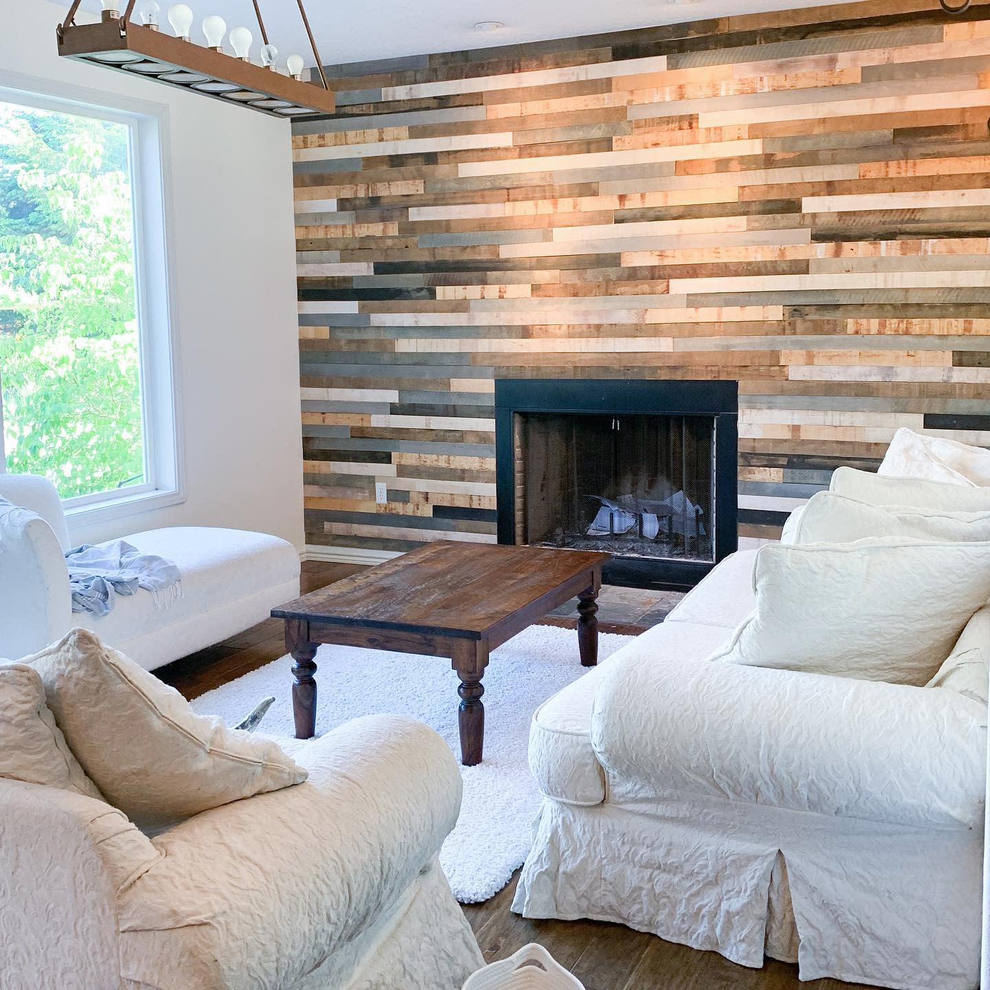 Wood Accent Wall Ideas for Living Room -christine_the_woodworker