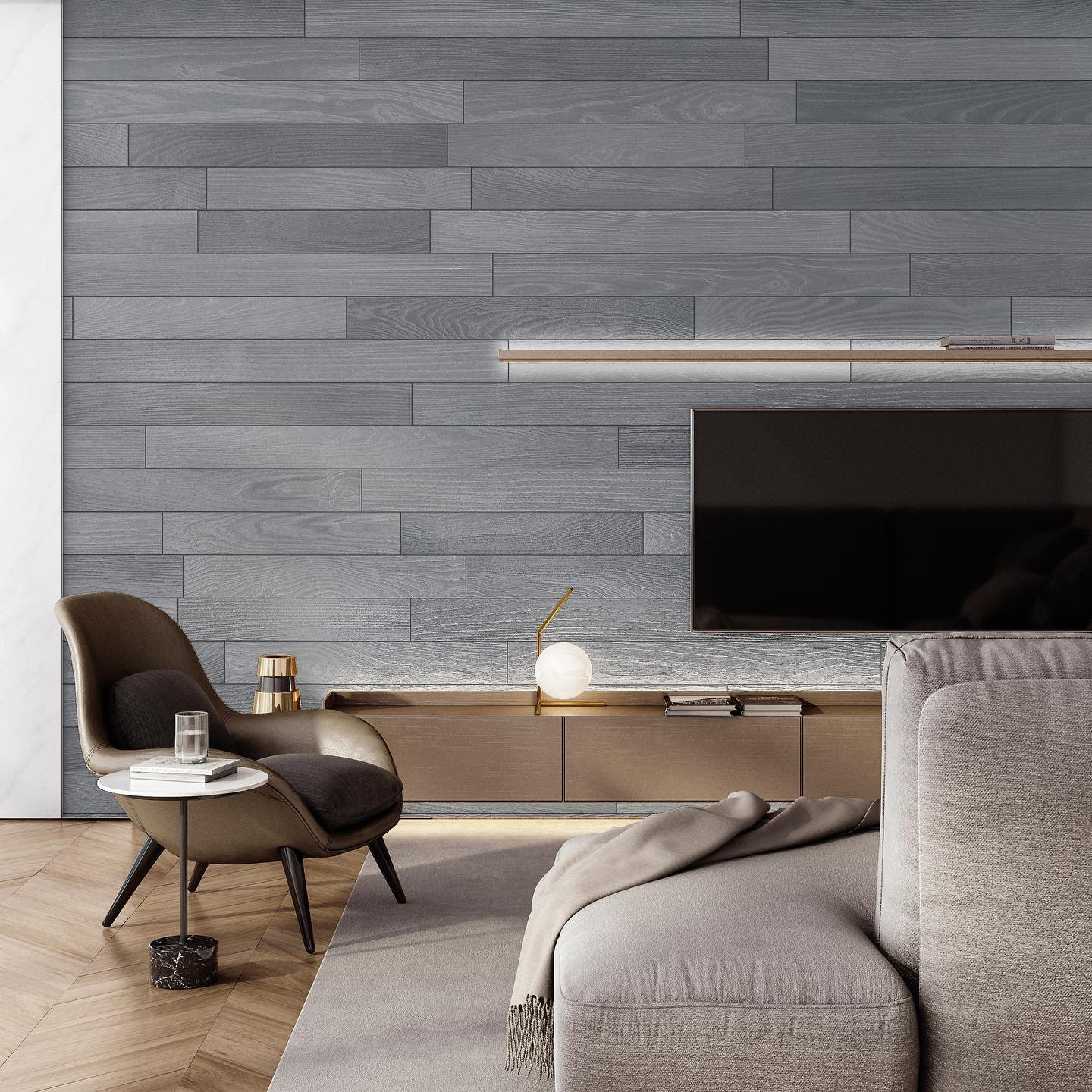 Wood Accent Wall Ideas for Living Room -mylivingdecor