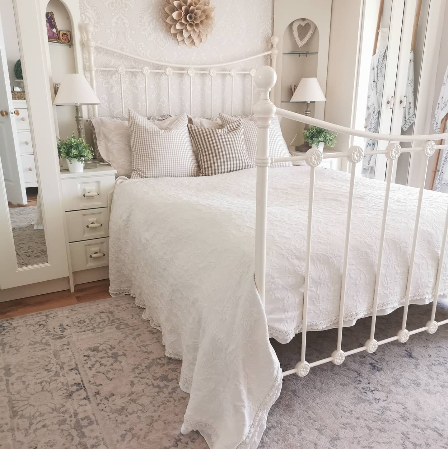 Iron Bed Country Bedroom Ideas -ahappyandaproudhome