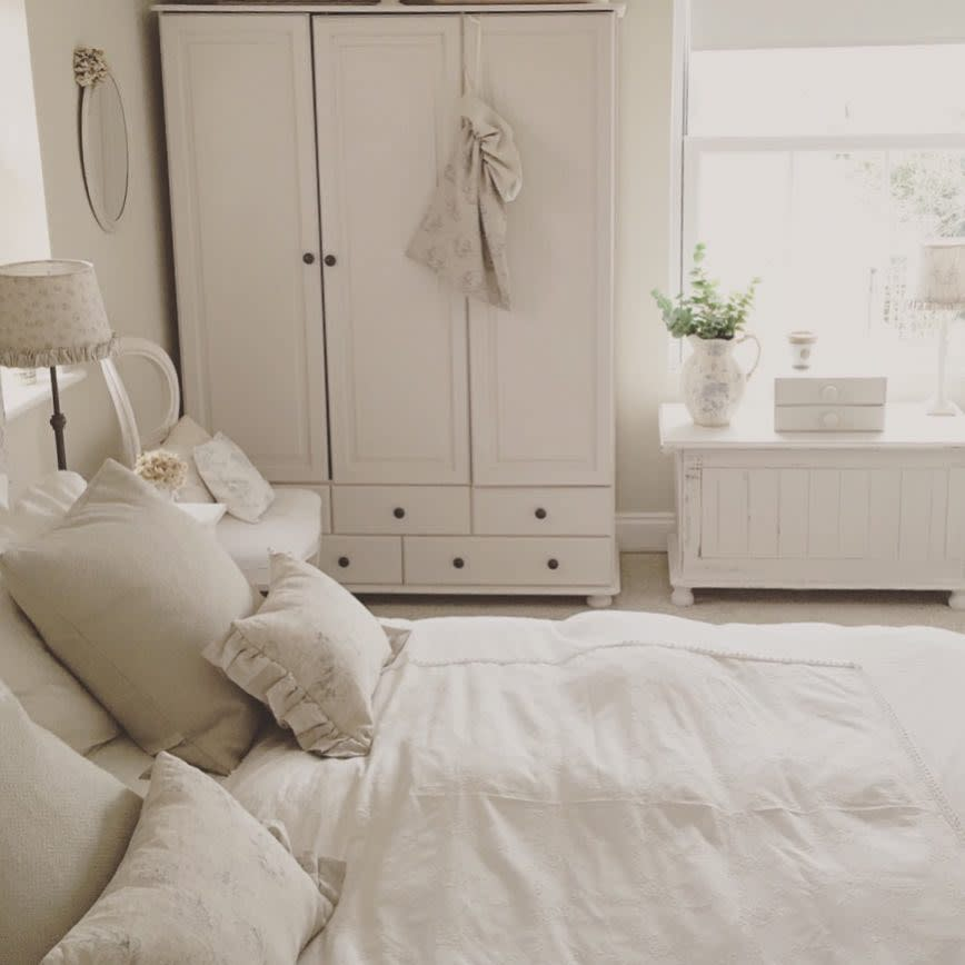 Neutral Country Bedroom Ideas -betsyblairhome