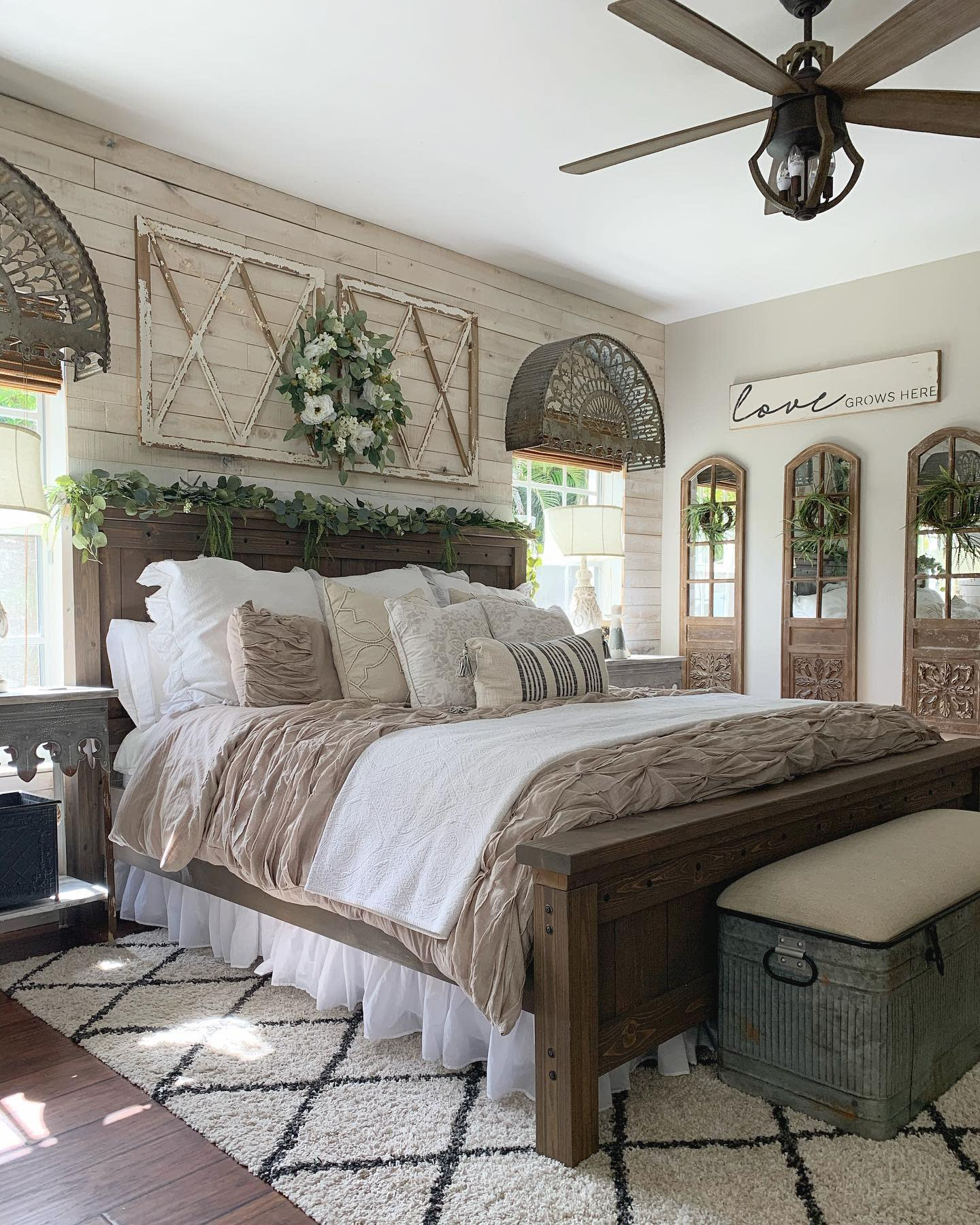 Rustic Country Bedroom Ideas -ourrusticparadise