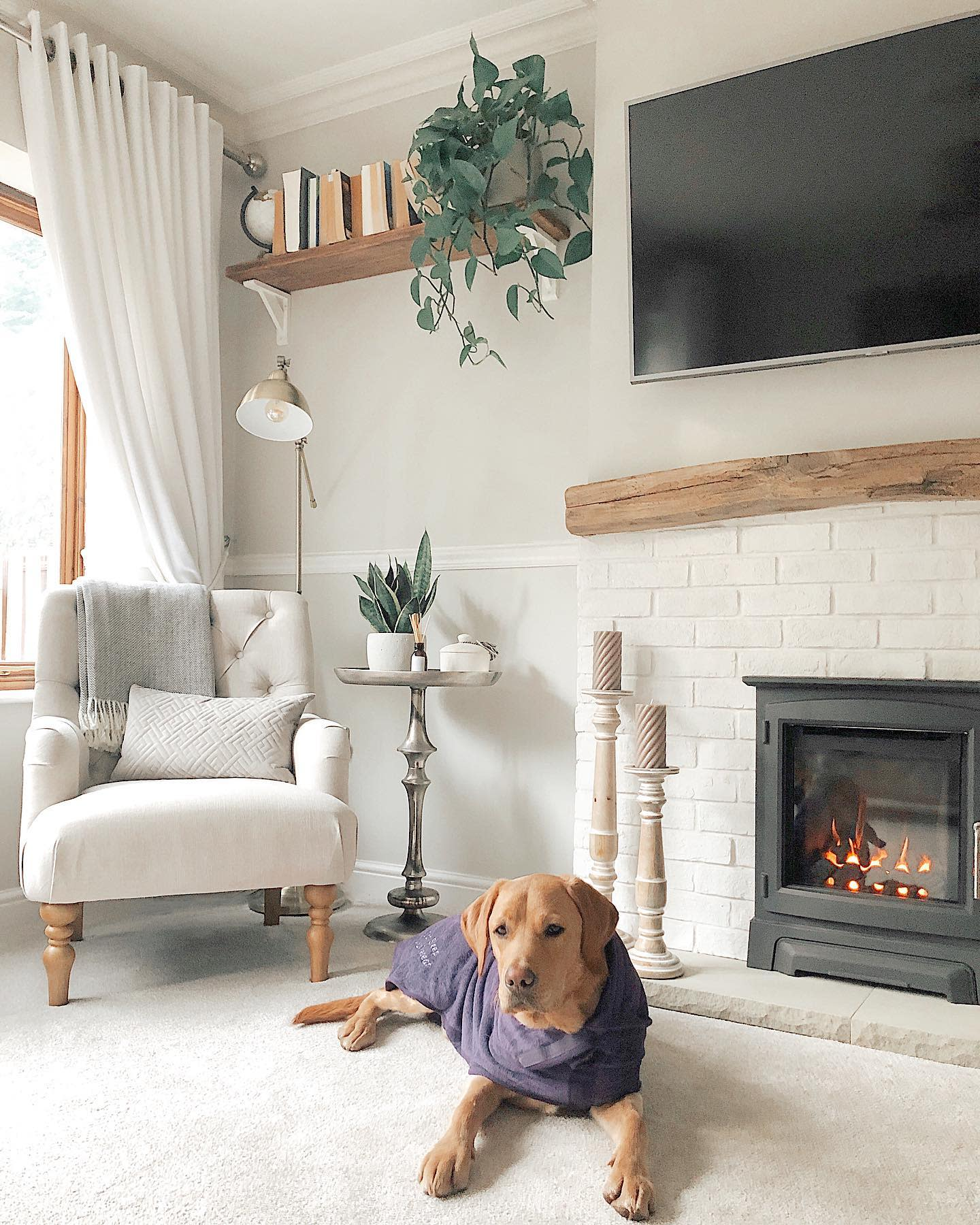 Modern Country Living Room Ideas -valleyhome_
