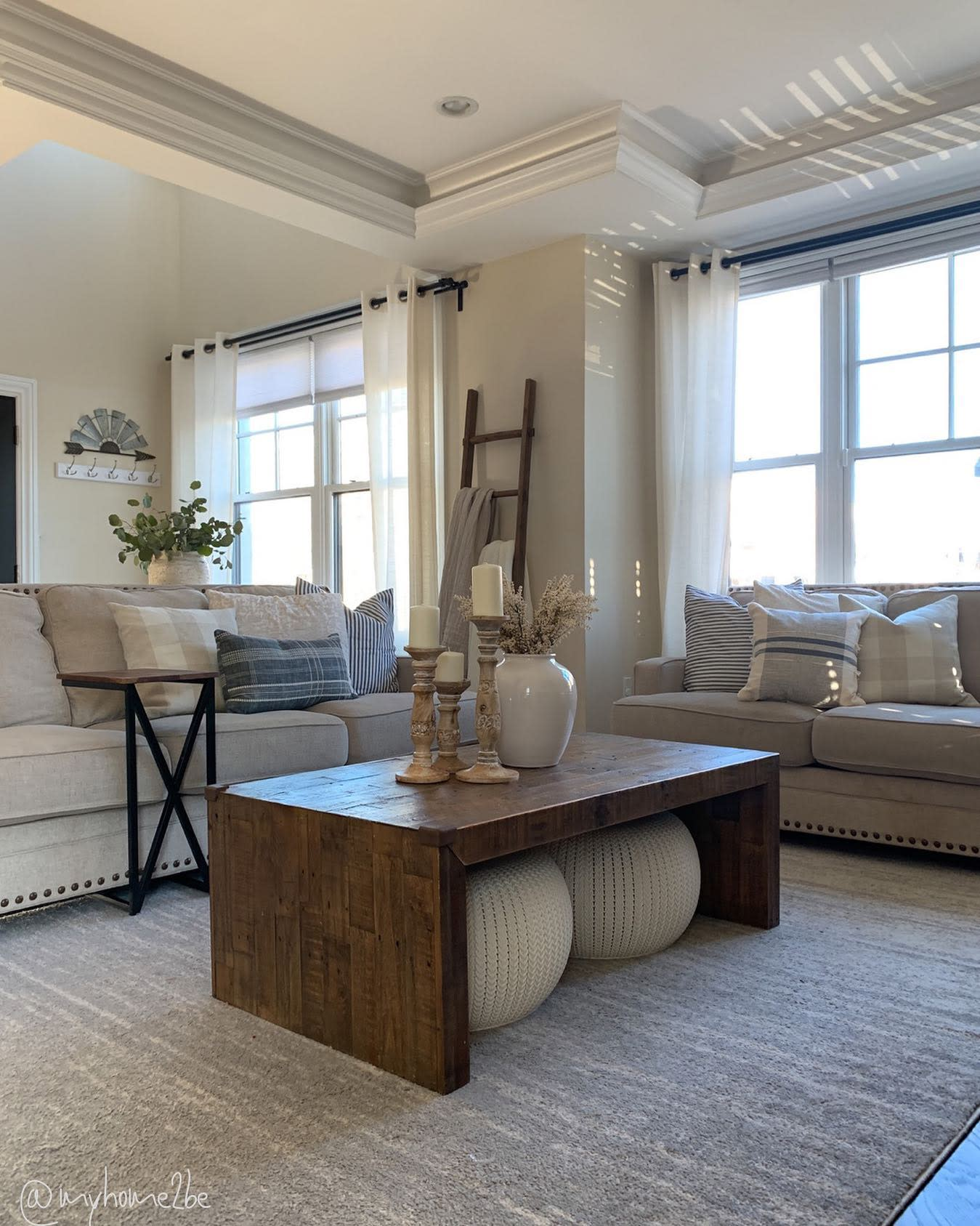 Neutral Country Living Room Ideas -myhome2be