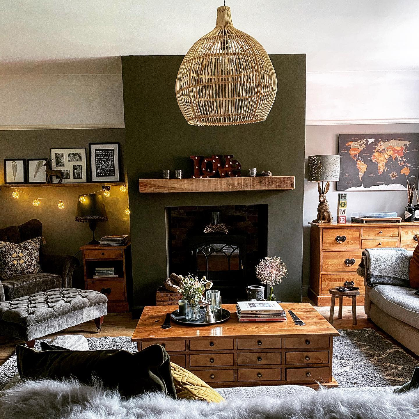 Rustic Country Living Room Ideas -shulashouse