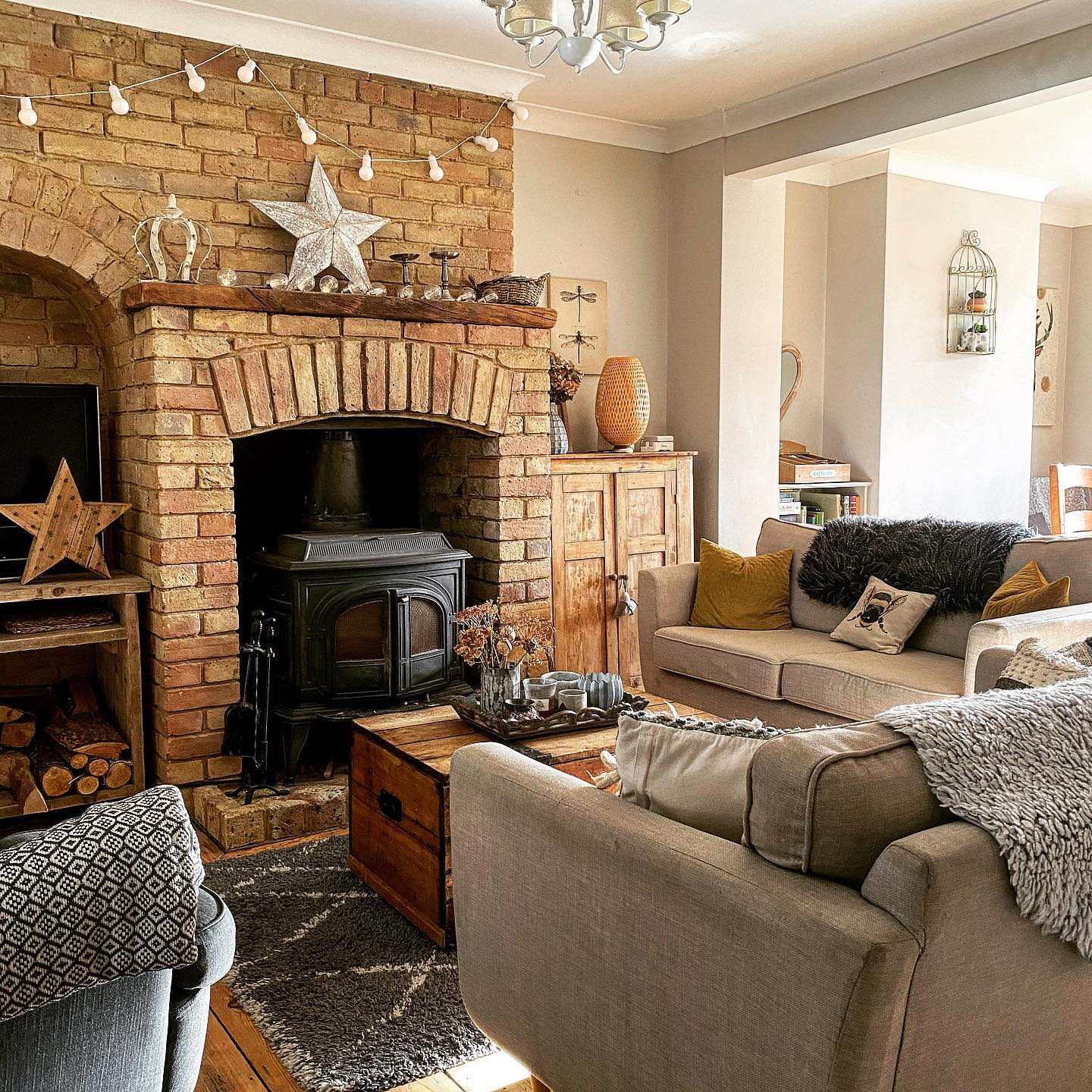Rustic Country Living Room Ideas 2 -shulashouse