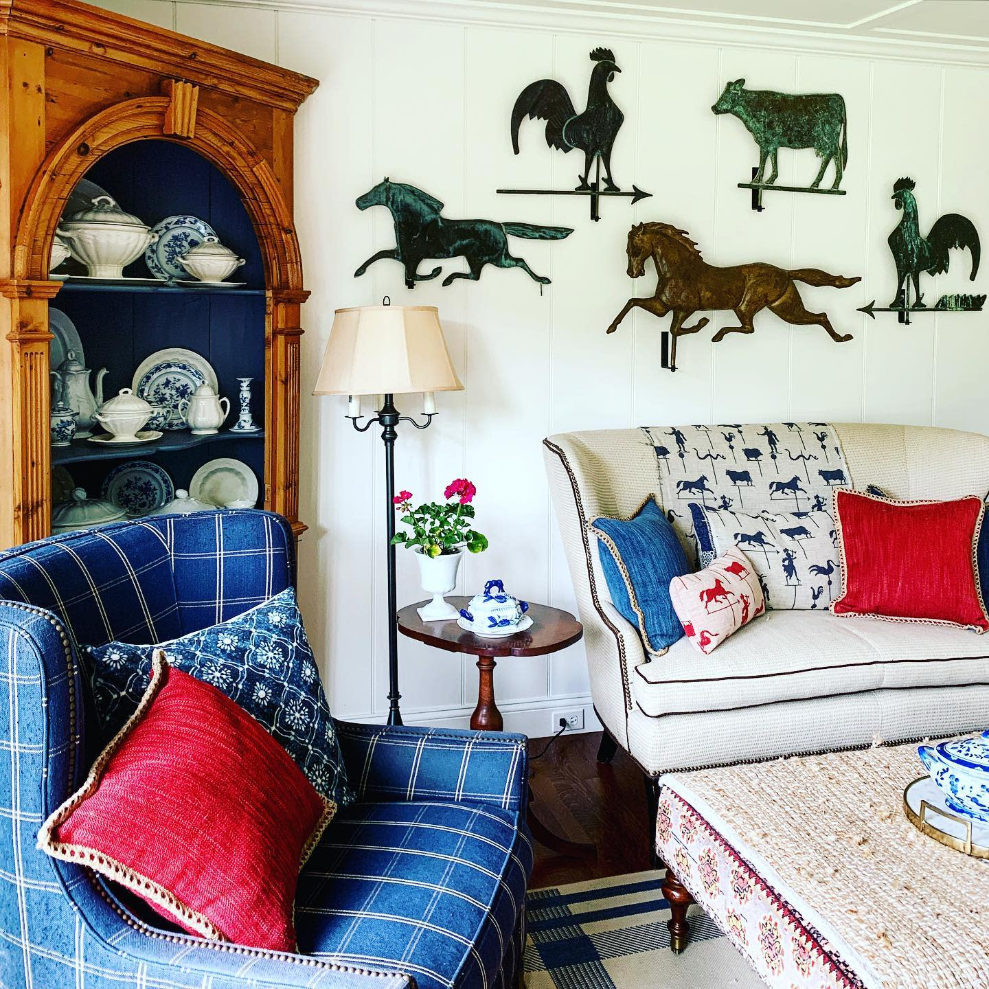 Traditional Country Living Room Ideas -mycreatedcottage