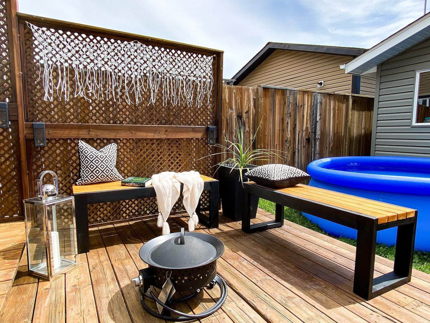 Wood Deck Bench Ideas -this_crowes_nest