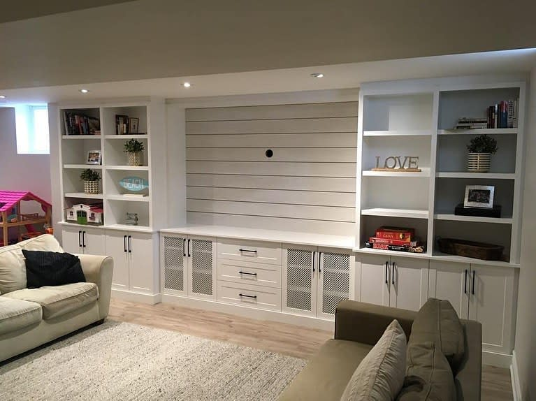 White Living Room Storage Ideas -tdm_thedoormaker