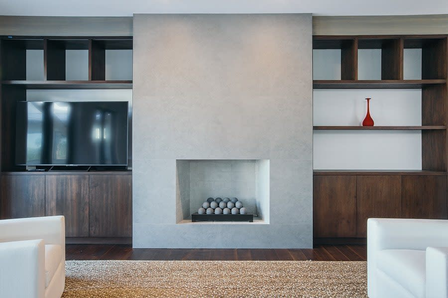 Concrete Fireplace Wall Ideas -artistic_finishes