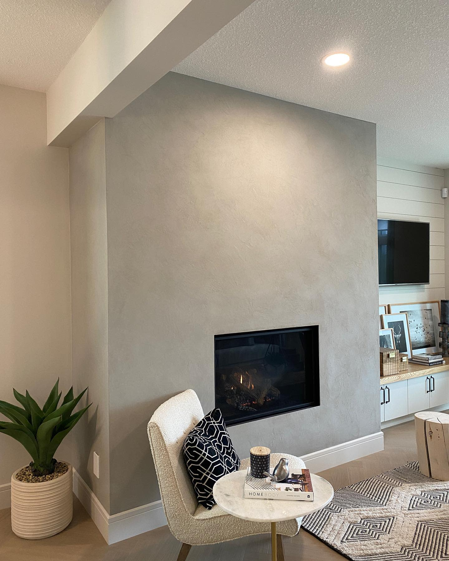 Concrete Fireplace Wall Ideas -surfacedesign.ca