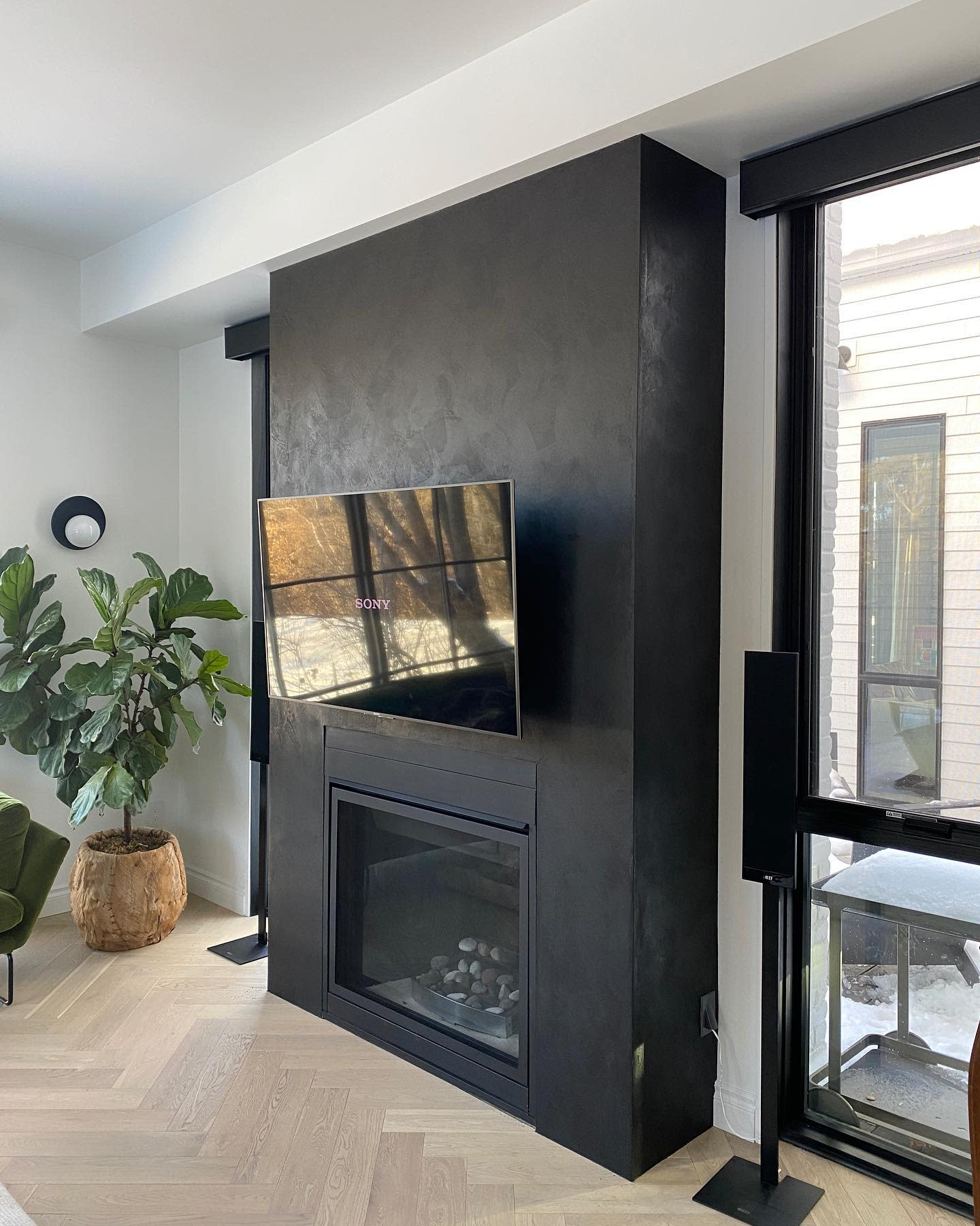 Concrete Fireplace Wall Ideas 2 -surfacedesign.ca