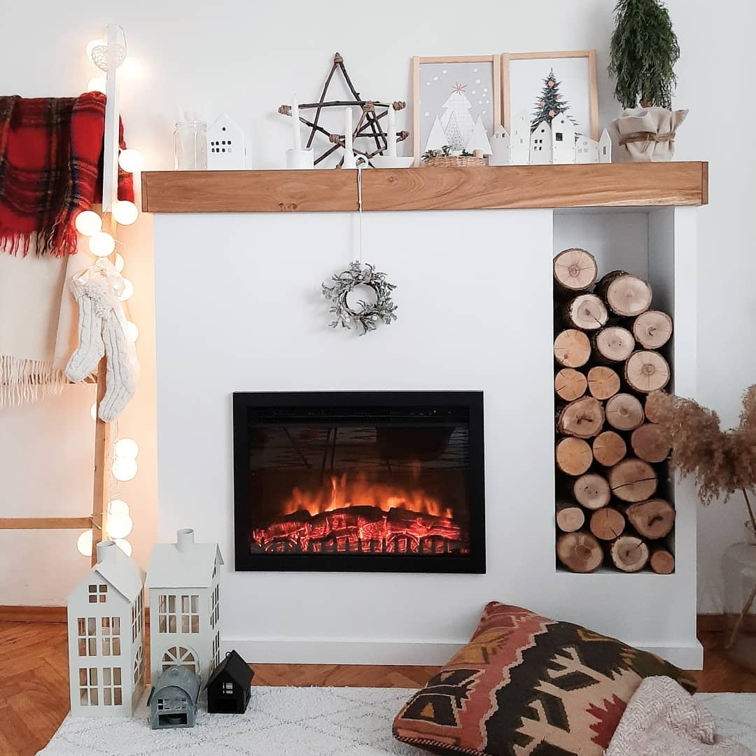 DIY Fireplace Wall Ideas -dash_of_white