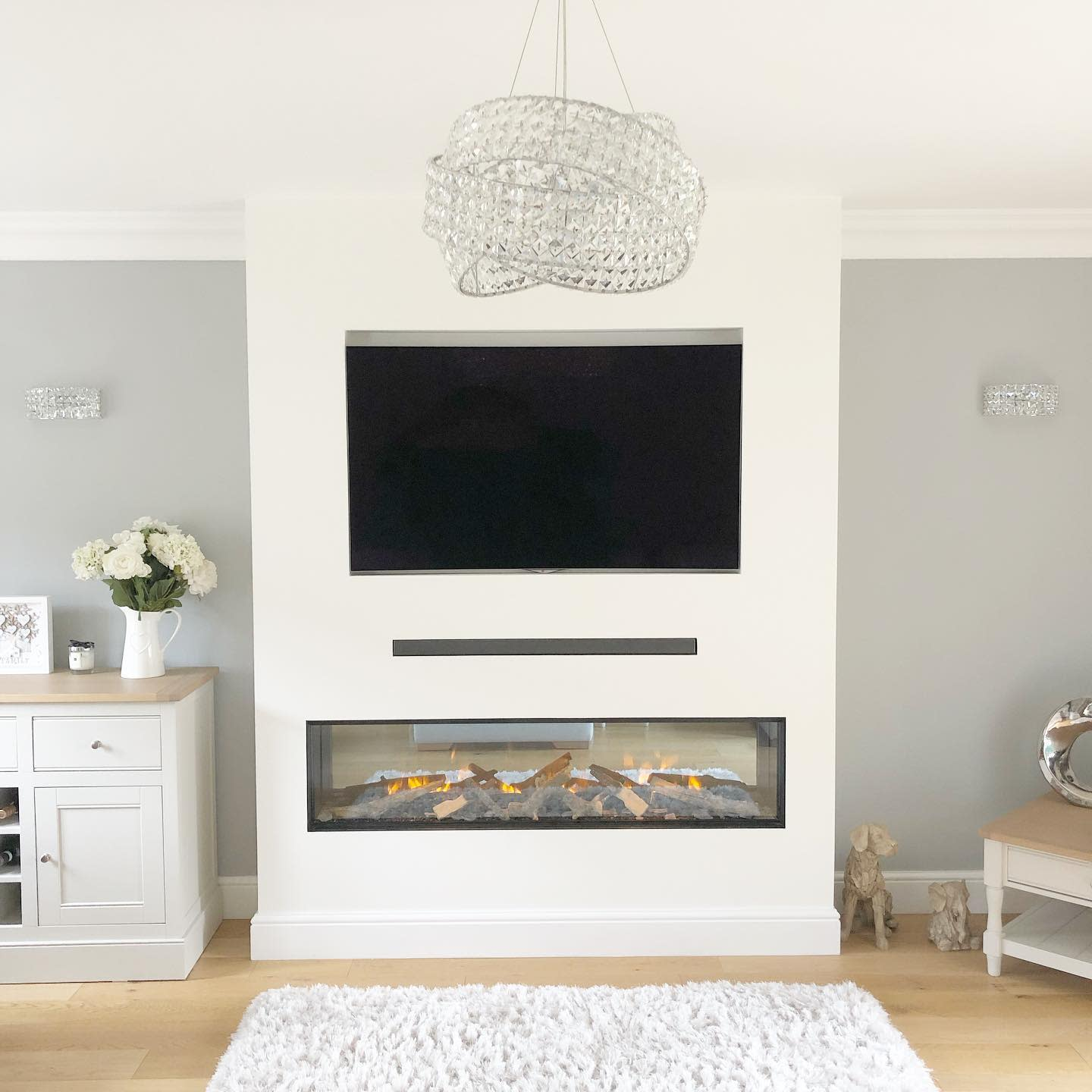 Fireplace Wall Ideas With TV -mother_daughter.interiors