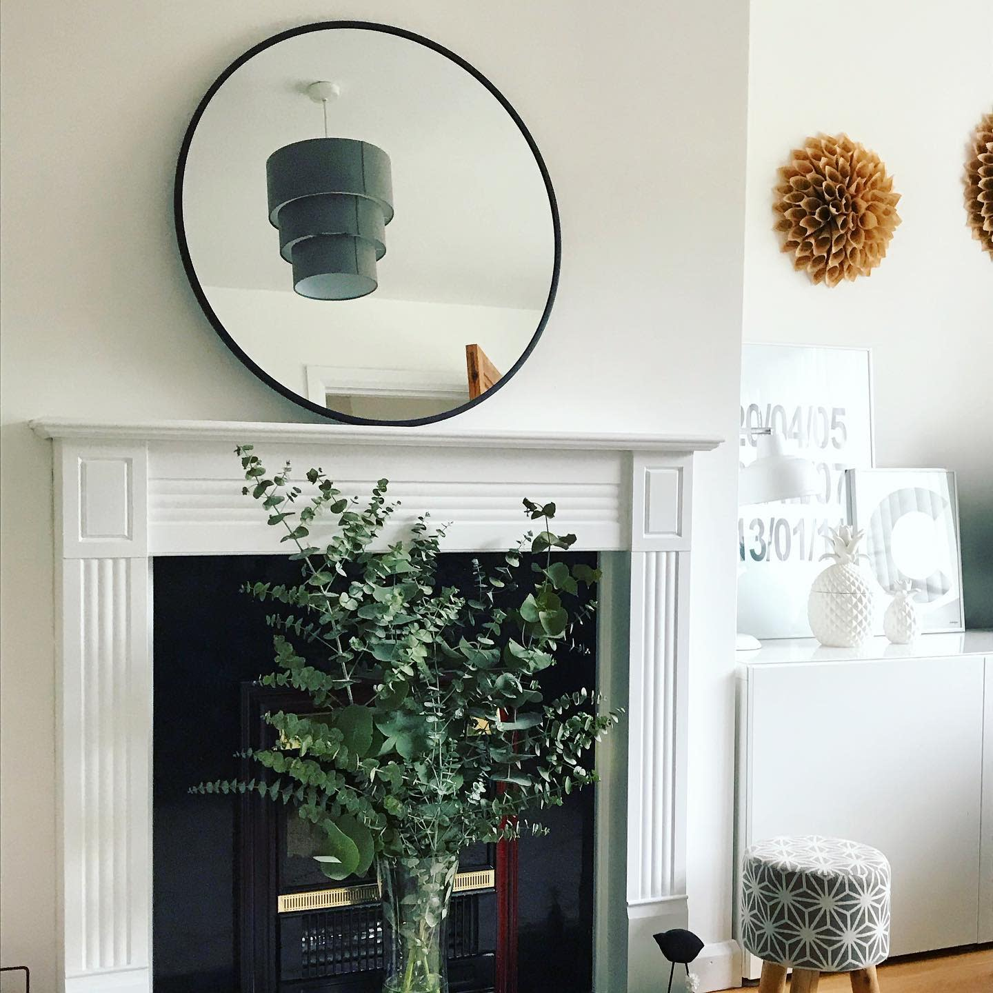 Mantel Fireplace Wall Ideas -inpursuitofwhatishome