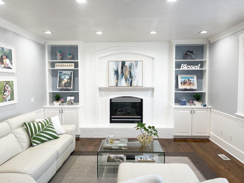 Fireplace decor surround