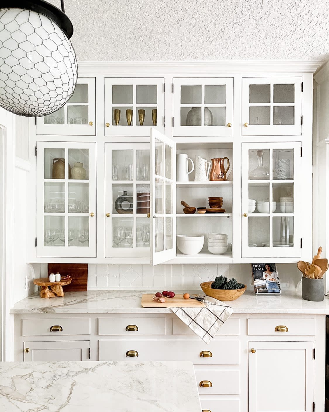 Glass Kitchen Cabinet Ideas -girl_and_goose