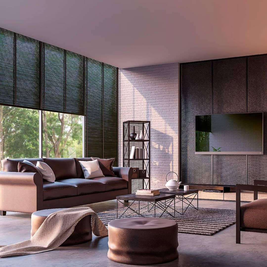 Modern Living Room With TV Ideas -_sophieblinds_