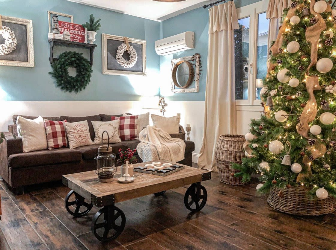 Country Rustic Living Room Ideas -littlefrenchfarmhouse_makeover