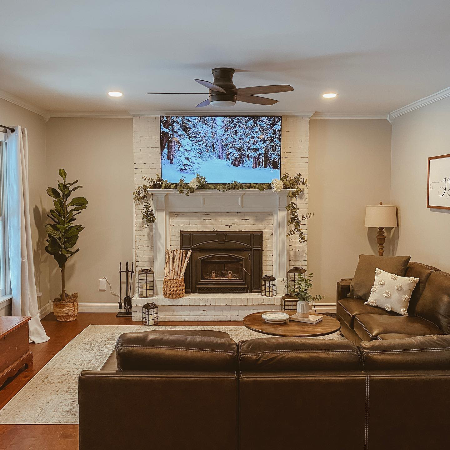 Fireplace Rustic Living Room Ideas -christiannaparker
