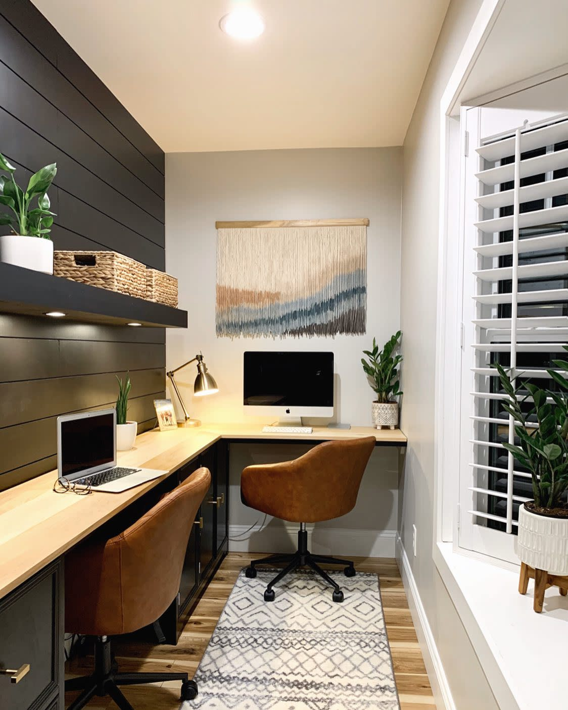 L-Shaped Home Office Desk Ideas -humble_t_abode