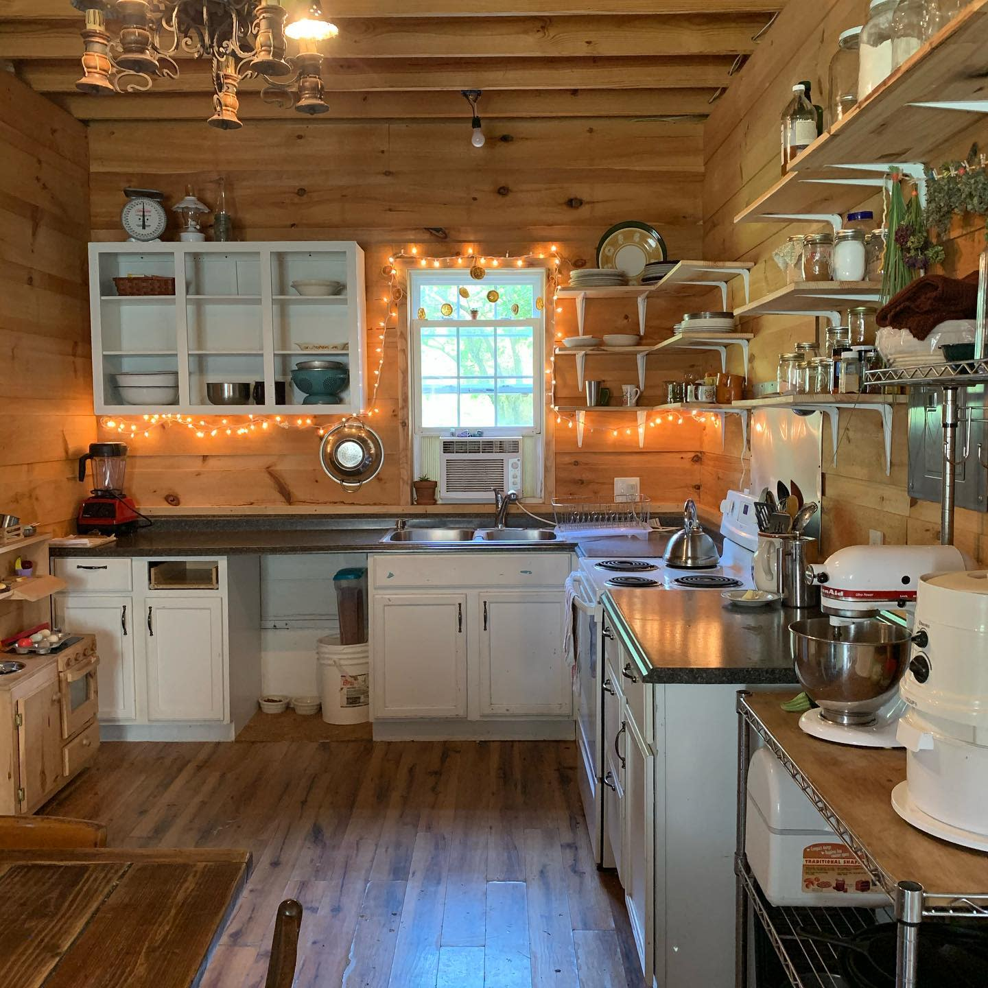 Cabin Rustic Kitchen Ideas -this_blessed_nest