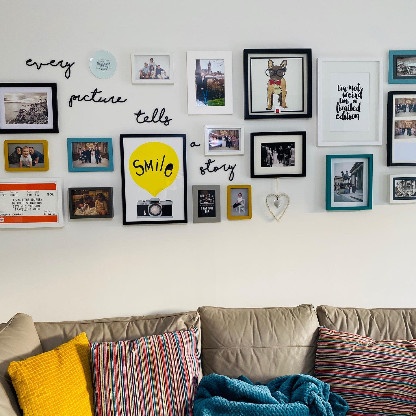 Livingroom Wall Collage Ideas -lifeofpy.pamperyourself